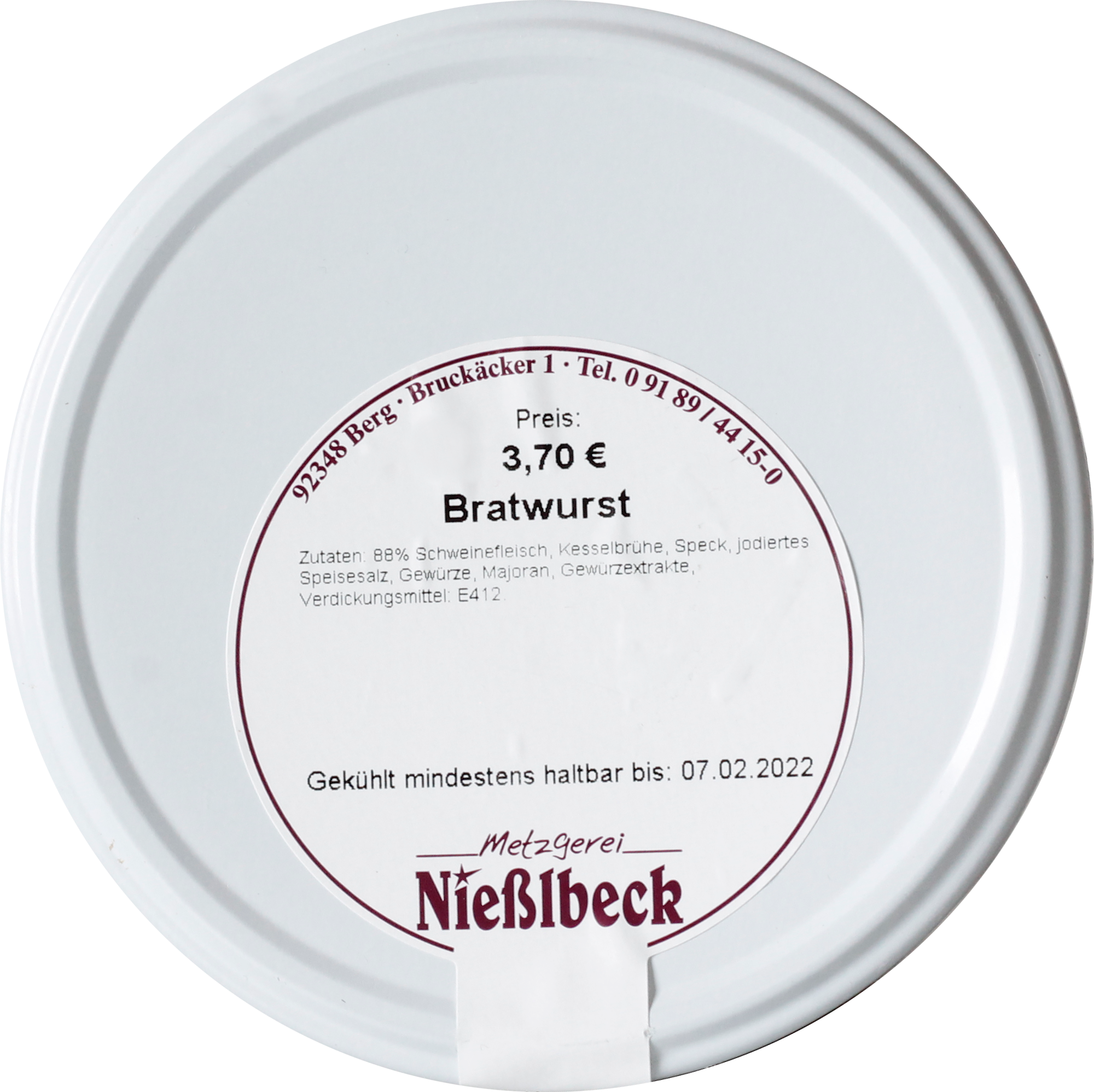 Bratwurst (Glas 380g)