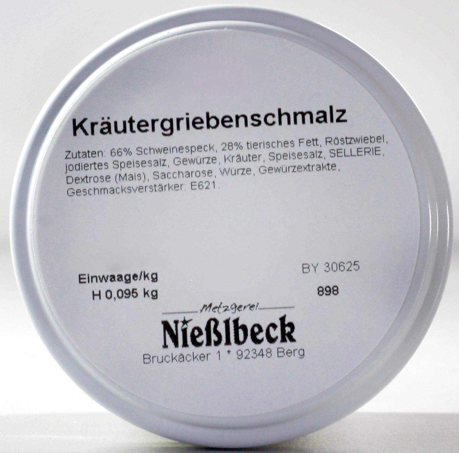Griebenschmalz (Glas 95g)