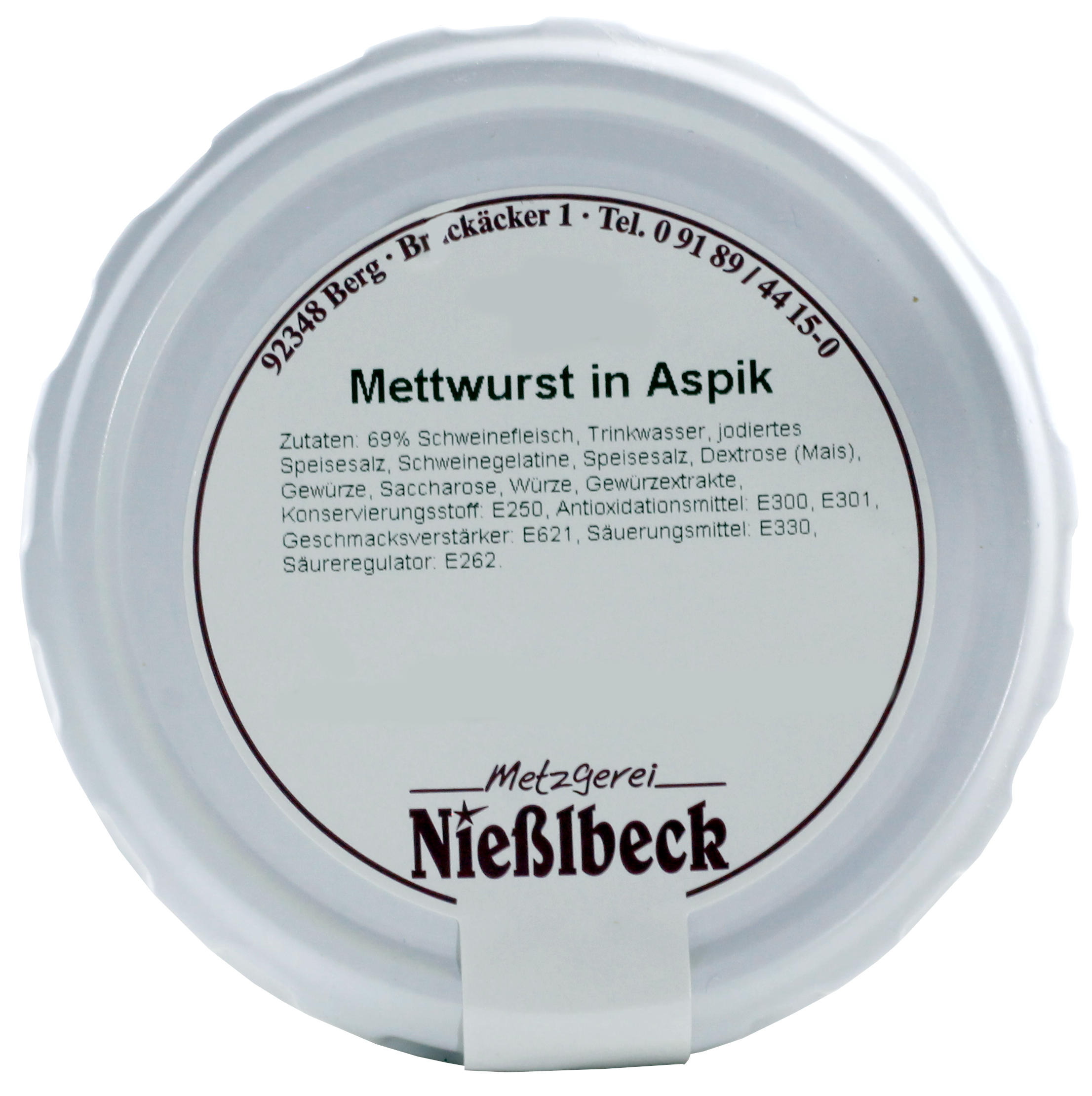 Mettwurst in Aspik (Glas 180g)