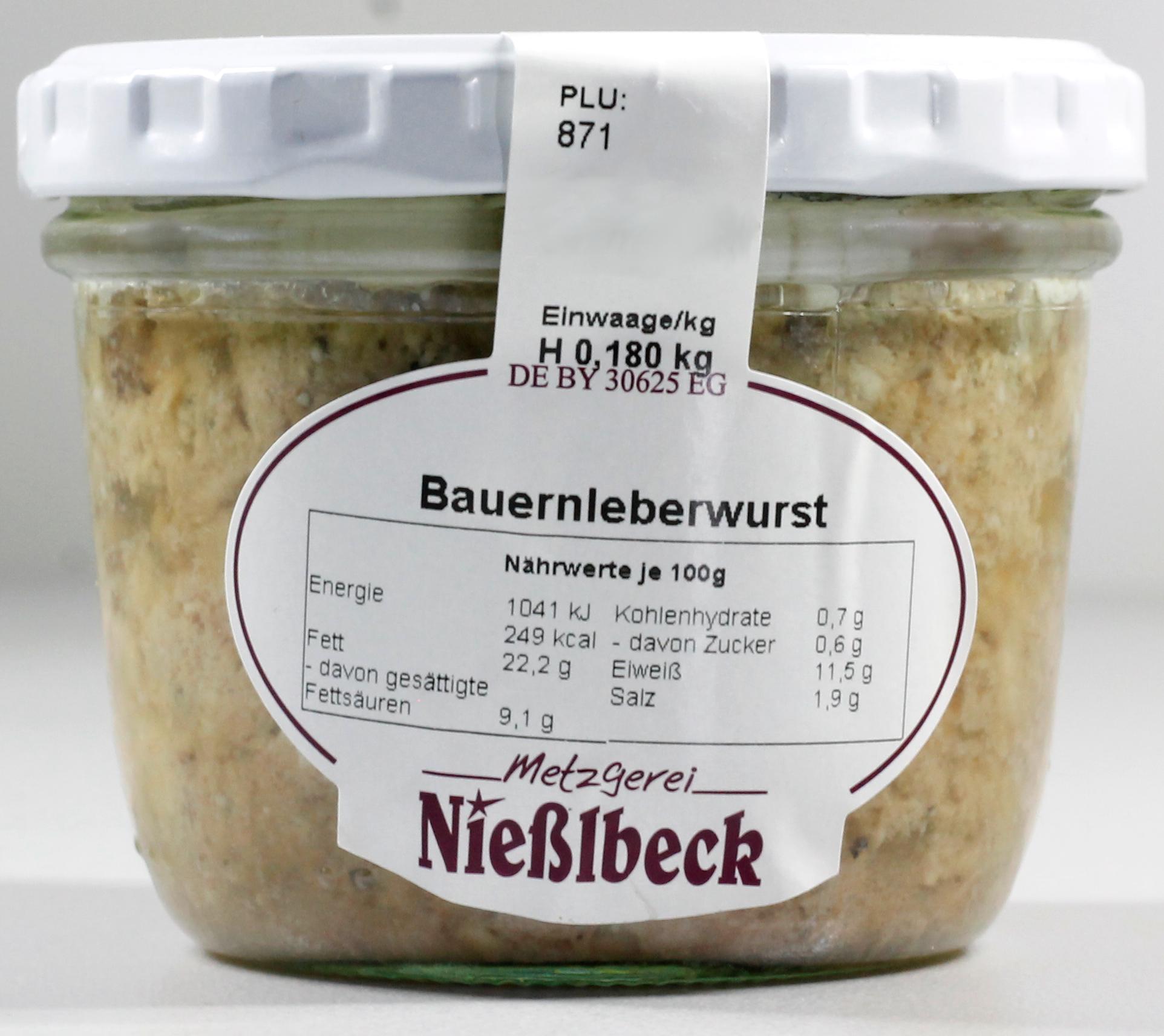 Bauernleberwurst (Glas 180g)